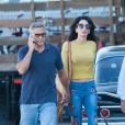 Amal Clooney (Amal Alamuddin) rend visite à son mari George Clooney sur le tournage de 'Suburbicon' à Los Angeles, Californie, Etats-Unis, le 20 octobre 2016.