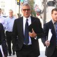 George Clooney, messager de la paix pour l'ONU et défenseur des droits de l'homme, en conférence de presse pour soutenir l'Afrique du Sud à Washington, le 12 septembre 2016