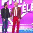 """Camille Combal et Cyril Hanouna sur le plateau de """"Touche pas à mon poste"""", mardi 14 février 2017, C8"""