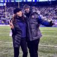 Sanya Richards-Ross et Aaron Ross, ému d'être de retour chez les Giants de New York en décembre 2016, attendent en 2017 leur premier enfant. Photo Instagram.