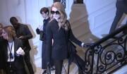 Céline Dion chez Dior pour le défilé haute couture automne/hiver 2016/2017, à Paris, le 4 juillett 2016.