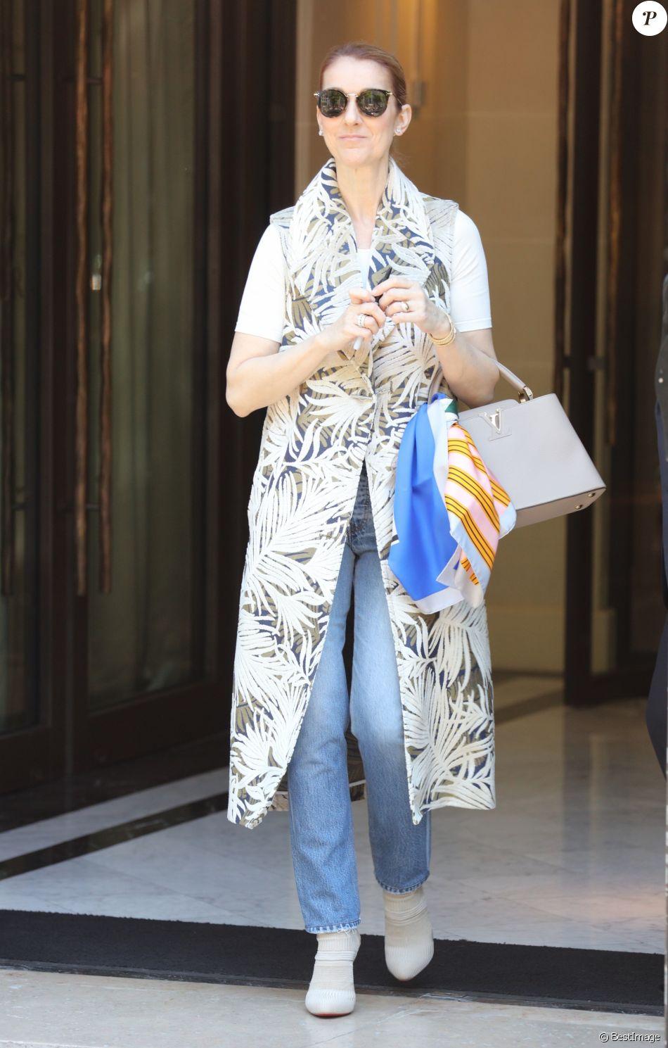 celine sunglasses paris 1yz5  C茅line Dion quitte son h么tel le Royal Monceau 脿 Paris le 7 juillet 2016