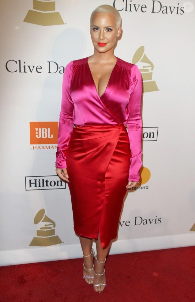 Amber Rose au gala Pre-Grammy à l'hôtel The Beverly Hilton à Beverly Hills, le 11 février 2017