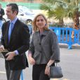 L'infante Cristina d'Espagne et son mari Iñaki Urdangarin au tribunal de Palma de Majorque pour le procès Noos le 23 février 2016