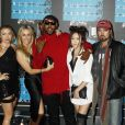 Braison Cyrus, Noah Cyrus, Billy Ray Cyrus, Tish Cyrus, Brandi Glenn Cyrus, Mike Will à la Soirée des MTV Video Music Awards à Los Angeles le 30 aout 2015.