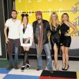 Braison Cyrus, Tish Cyrus, Noah Cyrus, Billy Ray Cyrus, Brandi Glenn Cyrus à la Soirée des MTV Video Music Awards à Los Angeles le 30 aout 2015.