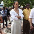 Le prince Harry et Rihanna font un test HIV ensemble au square des héros à Bridgetown, La Barbade, le 1er décembre 2016.