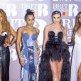 Jesy Nelson, Leigh-Anne Pinnock, Perrie Edwards et Jade Thirlwall de Little Mix aux BRIT Awards 2017, O2 Arena, Londres, le 22 février 2017.