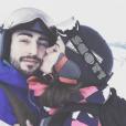 Camille Lou en vacances à Belle Plagne avec son chéri  Gabriele Beddoni. Photo publiée sur Instagram en février 2017.