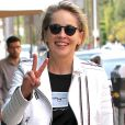Sharon Stone se rend dans un salon de pédicure à Beverly Hills. Le 13 février 2017