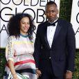 Mahershala Ali et sa femme Amatus Sami-Karim enceinte - La 74ème cérémonie annuelle des Golden Globe Awards à Beverly Hills, le 8 janvier 2017. © Olivier Borde/Bestimage