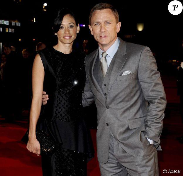 Daniel Craig et sa fiancée Satsuki Mitchell à l'avant-première londonienne du film Les Insurgés