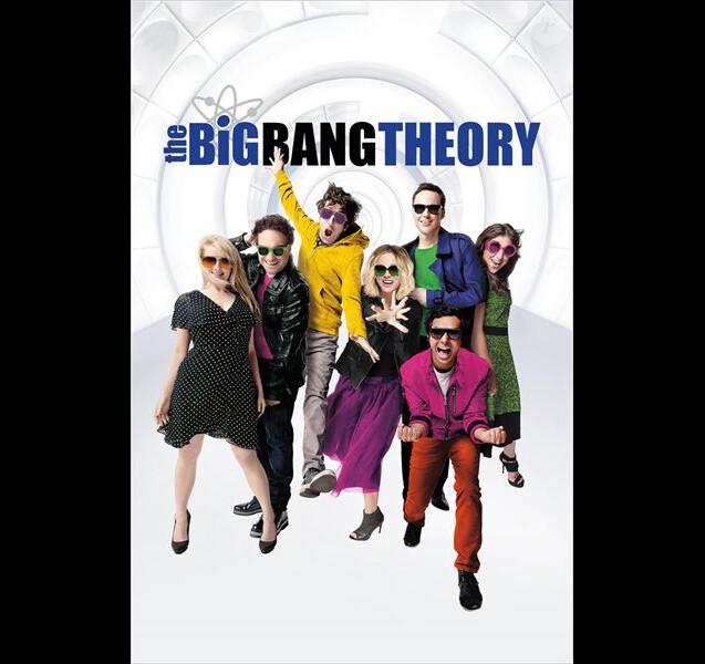 Le casting de la saison 10 de The Big Bang Theory pose pour une affiche promo.