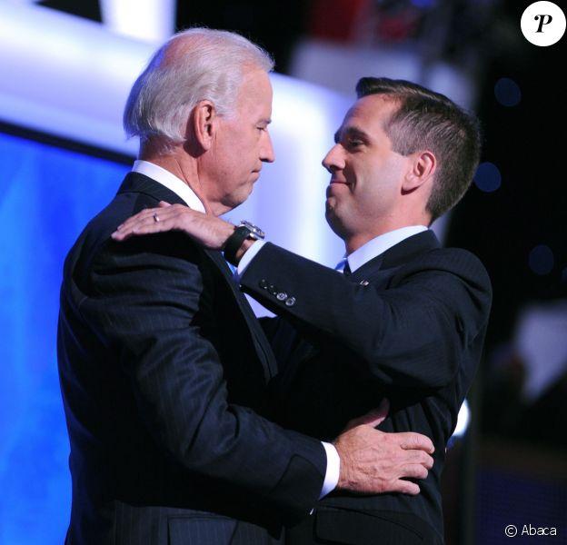 Joe Biden et Beau Biden à Denver, le 27 août 2008