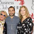 Véronique de Villèle, Zinedine Soualem et sa compagne Caroline Faindt- Le Chinese Business Club célèbre la journée des droits de la femme lors d'un déjeuner chez Potel & Chabot à Paris le 8 mars 2017. © Guirec Coadic / Bestimage