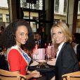 Alicia Aylies, miss France 2017 et Sylvie Tellier- Le Chinese Business Club célèbre la journée des droits de la femme lors d'un déjeuner chez Potel & Chabot à Paris le 8 mars 2017. © Guirec Coadic / Bestimage