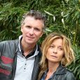 Denis Brogniart et son épouse Hortense, en juin 2012, à Roland Garros