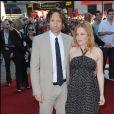 """David Duchovny et Gillian Anderson à la première du film """"The X-Files: I Want to Believe"""", le 30 juillet 2008 à Londres."""
