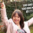 La jeune Mélanie a atteint ses 100 000 likes sur Facebook