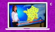 Mélanie Ségard, Miss météo d'un jour sur France 2, le 14 mars 2017.