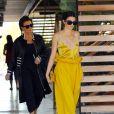 Kris Jenner avec sa fille Kendall Jenner sur le tournage de leur télé réalité 'Keeping Up With The Kardashians' à Thousand Oaks, le 15 mars 2017
