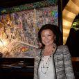 Exclusif - La maire du 8ème arrondissemnet de Paris, Jeanne D'hauteserre - Vernissage de l'artiste Johann Perathoner à l'hôtel Renaissance à Paris le 17 mars 2017. © Rachid Bellak/Bestimage