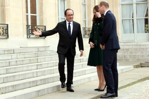 Kate Middleton et William à Paris: Halte à l'Elysée, François Hollande guilleret