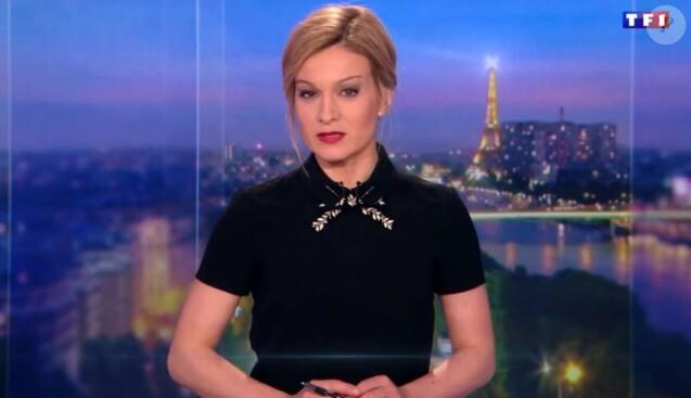 Audrey Crespo-Mara, JT de TF1, samedi 18 mars 2017