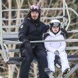 David Beckham et sa fille Harper - La famille Beckham profite de la neige pour skier dans la station de Whistler en Colombie-Britannique, Canada le 20 février 2017.