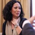 Fabienne Carat en larmes face à Bruno le médium, le 27 mars 2017.