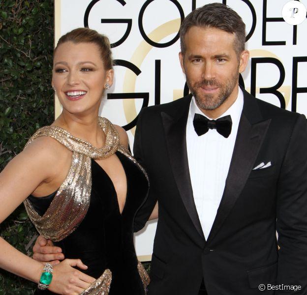 Ryan Reynolds, Blake Lively - La 74ème cérémonie annuelle des Golden Globe Awards à Beverly Hills, le 8 janvier 2017.