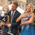 Ryan Reynolds avec sa femme Blake Lively et ses filles James et Ines - Ryan Reynolds reçoit son étoile sur le Walk of Fame à Hollywood, le 15 décembre 2016