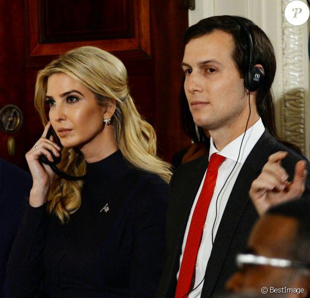 Ivanka Trump et son mari Jared Kushner, Haut conseiller du président des États-Unis à la Maison Blanche à Washington le 17 mars 2017. © Christy Bowe/Globe Photos via ZUMA Wire / Bestimage