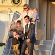 Ivanka Trump avec son mari Jared Kushner et leurs enfants Arabella Rose, Joseph Frederick et Theodore James - Le président américain Donald Trump et sa femme Melania arrivent à l'aéroport de Palm Beach à bord d'air force one avec le premier ministre japonais Shinzo Abe et sa femme Akie Abe à Palm Beach le 10 février 2017