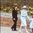 La princesse Diana et le prince Charles avec leur neveu Peter Phillips et leur nièce Zara Phillips en 1981.