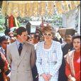 La princesse Diana et le prince Charles en visite officielle en Indonésie en novembre 1989.