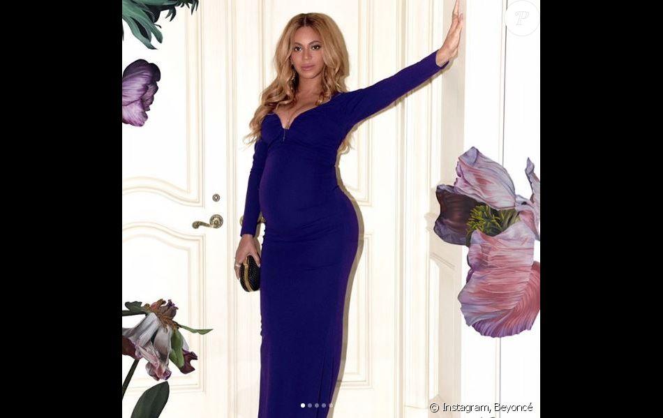 Photo de Beyoncé, enceinte de son deuxième enfant. Mars 2017.