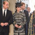 Le prince William, duc de Cambridge, et Kate Catherine Middleton, duchesse de Cambridge, le prince Harry - Service of hope, messe en l'honneur des victimes de l'attentat de Londres à l'abbaye de Westminster à Londres. Le 5 avril 2017
