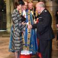 Kate Catherine Middleton, duchesse de Cambridge - Service of hope, messe en l'honneur des victimes de l'attentat de Londres à l'abbaye de Westminster à Londres. Le 5 avril 2017