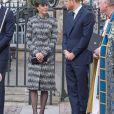 Catherine Kate Midldeton, duchesse de Cambridge et le prince Harry à la messe Service of Hope, en l'honneur des victimes de l'attentat de Londres à l'abbaye de Westminster à Londres le 5 avril 2017