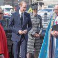 Le prince William, duc de Cambridge et Catherine Kate Middleton, duchesse de Cambridge à la messe Service of Hope, en l'honneur des victimes de l'attentat de Londres à l'abbaye de Westminster à Londres le 5 avril 2017