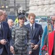 """Le prince William, duc de Cambridge, Catherine Kate Middleton, duchesse de Cambridge et le prince Harry à la messe Service of Hope, en l'honneur des victimes de l'attentat de Londres à l'abbaye de Westminster à Londres le 5 avril 2017"""