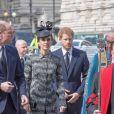 Le prince William, duc de Cambridge, Catherine Kate Middleton, duchesse de Cambridge et le prince Harry à la messe Service of Hope, en l'honneur des victimes de l'attentat de Londres à l'abbaye de Westminster à Londres le 5 avril 2017