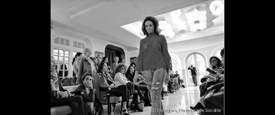 Défilé de la marque Mademoiselle Socialite, collection printemps-été 2017 à l'hôtel Le Pigonnet. Aix-en-Provence, le 2 avril 2017.