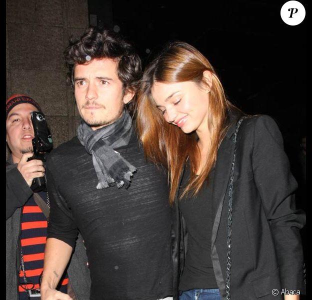 Orlando Bloom et Miranda Kerr à Los Angeles. 14/01/09