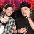 Exclusif - L'humoriste et acteur français Kev Adams soutient son petit frère Noam qui mixe dans la boîte de nuit le VIP Room à Paris, France, le 22 mars 2017. © Rachid Bellak/Bestimage