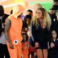 """Mariah Carey et Nick Cannon avec leurs enfants Morrocan et Monroe - Soirée des """"Nickelodeon's 2017 Kids' Choice Awards"""" à Los Angeles le 11 mars 2017."""