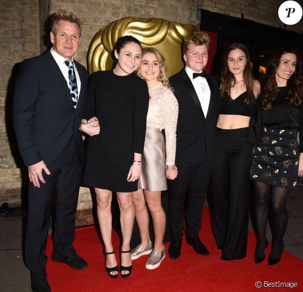 Gordon Ramsay, Holly Anna Ramsay, Matilda Ramsay, Jack Scott Ramsay, Megan Jane Ramsay and Tana Ramsay - Gordon Ramsay à la soirée BAFTA (British Academy Children's Awards) à Roundhouse à Londres, le 20 novembre 2016