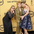 Carrie Fisher, Debbie Reynolds et Billie Lourd aux Screen Actors Guild Awards 2015.