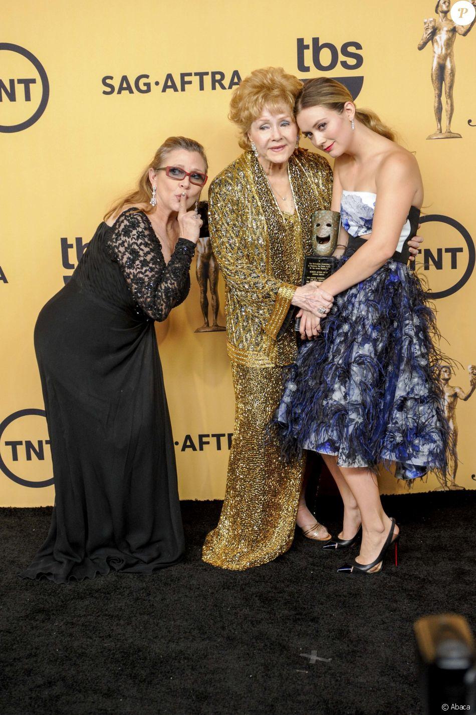 Carrie Fisher, Debbie Reynolds et Billie Lourd aux Screen Actors Guild Awards 2015.
